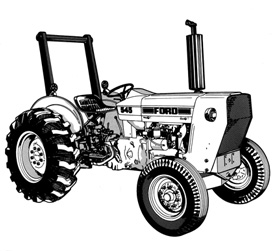 Ford Industrial Tractor 1975-1983