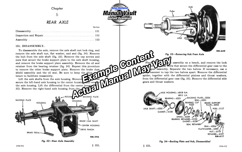 Example Tractor Service Manual