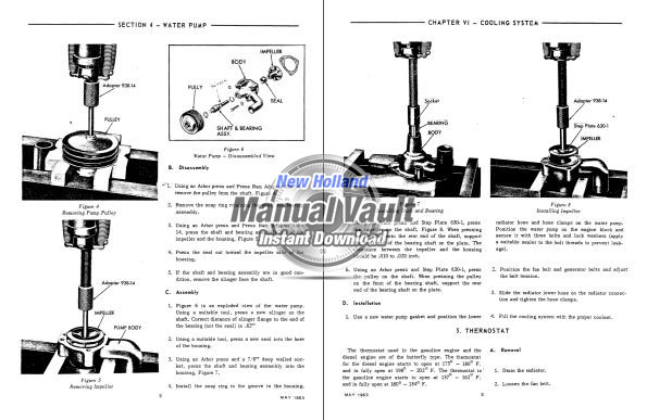 Ford 6000 tractor shop manual sample
