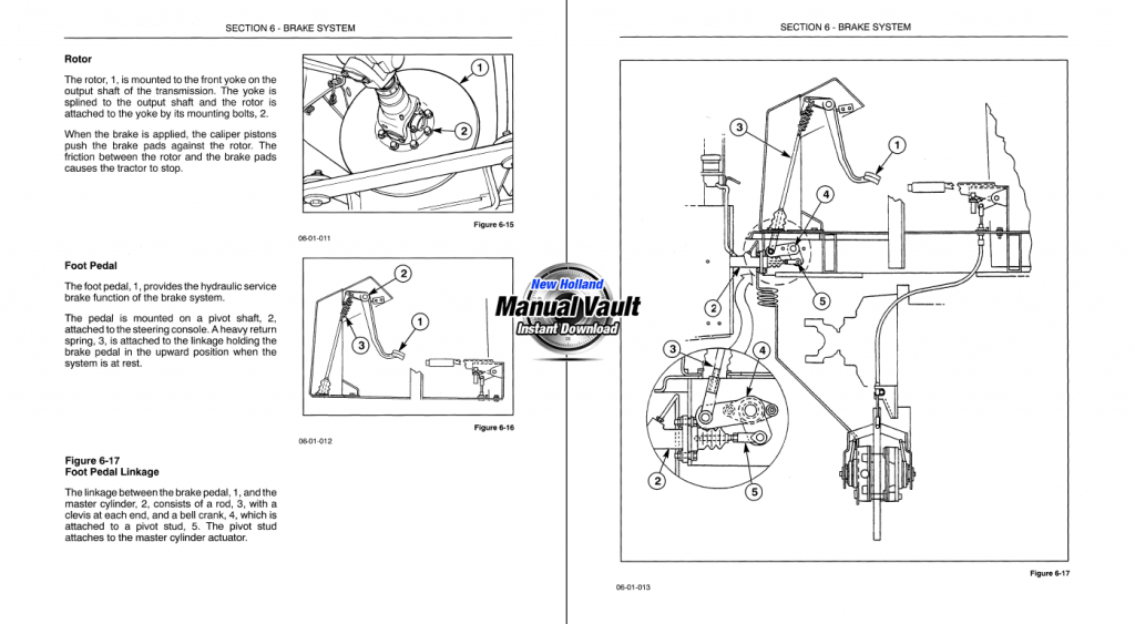New Holland Td5030  Td5040  Td5050 Tractor Service Manual