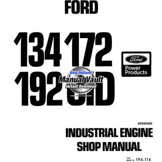 Ford 134, 172, 192 CID Engine