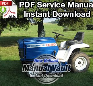 Ford 100, 120, 125, 145, 165, 195 Lawn Garden Tractor