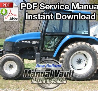 New Holland 4835, 5635, 6635, 7635 Tractor